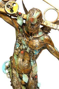 Nano Lopez. Man Balance. Sculpture