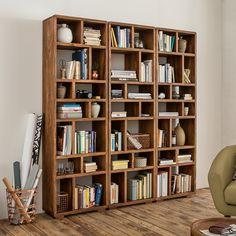 Bücherregal Trangle - Sheesham Massiv