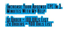 bassebuu: give You 100 URLs That Will Maximize Your Adsense CPC for $5, on fiverr.com