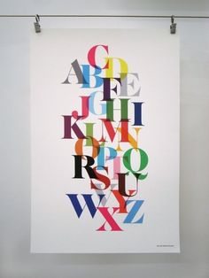 Gorgeous alphabet print.  $25 at the Honey & Bloom etsy shop.