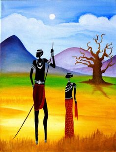 Dry Africa  -  Medium: Oil on Canvas,  $22 + 25% discount with code KTDURE #fineartamerica