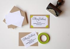 I could have pinned everything in this post about DIY Rubber Stamp calling cards. So chic! via Oh So Beautiful Paper #stamp