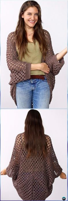 Crochet Movie Night Cocoon Cardi Free Pattern - Crochet Women Shrug Cardigan Free Pattern