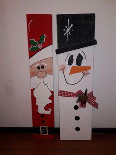 Navidad - black - New Ideas Wooden Christmas Decorations, Christmas Wood Crafts, Pallet Christmas, Christmas Signs Wood, Christmas Art, Christmas Projects, Holiday Crafts, Christmas Ornaments, Theme Noel