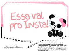 Plaquinha Panda Rosa 11 Bolo Panda, Words, Panda Themed Party, Panda Birthday Party, Ideas Aniversario, Panda Birthday, Funny Taglines, Horse