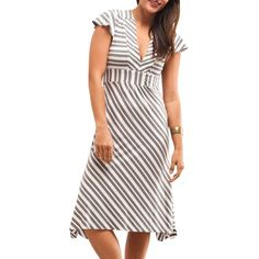 Carve Designs Women's Paris Dress - A cute v-neck with an a-line, perfect for your summer style