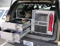 dog pick up truck crates - Google Search