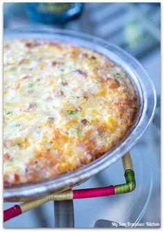 Crustless Ham N Cheese Quiche
