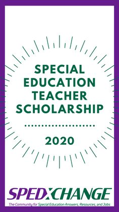 SPEDxchange is excited to announce the 2020 SPEDxchange Special Education Teacher Scholarship. Link to video to learn more. Special Education Jobs, Kid Stuff, Homeschool, College, Learning, Link, University, Studying, Teaching