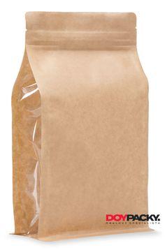 3-vrstvý boxpack sáček - exkluzivní sáček s plochým dnem. Materiál KRAFT/PET/PE s bočním okénkem. Zip, Products, Beauty Products