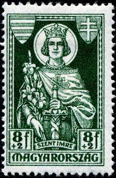 Sello: Duke saint of Emmerich (Hungría) Anniv. of Prince Imre's death) Mi:HU 439