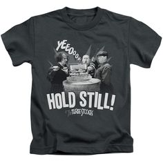 """Checkout our #LicensedGear products FREE SHIPPING + 10% OFF Coupon Code """"Official"""" Three Stooges / Hold Still-short Sleeve Juvenile 18 / 1(4) - Three Stooges / Hold Still-short Sleeve Juvenile 18 / 1(4) - Price: $24.99. Buy now at https://officiallylicensedgear.com/three-stooges-hold-still-short-sleeve-juvenile-18-1-4"""