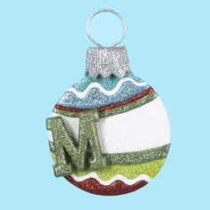 3 Christmas Ornaments - 5.25'' by Gordon Companies, Inc. $45.00. Please refer to SKU# ATR26198033 when you inquire.. Brand Name: Gordon Companies, Inc Mfg#: 30680529. This product may be prohibited inbound shipment to your destination.. Picture may wrongfully represent. Please read title and description thoroughly.. Shipping Weight: 1.00 lbs. 3 Christmas Ornaments - 5.25''/monogrammed M/striped/fully dimensional/hangers included/5.25''H (133mm)made of claydough a...