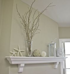 15 seaside decorating ideas to transport you to a sandy paradise - Mantlepiece feature