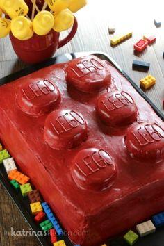 3 Layer Lego Cake
