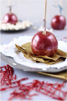 Pommes d'amour épicées de Noël