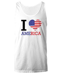 I Love America Tank, American Flag Tank, Boating Tank, Summertime Tank, Patriotic Tank Top, USA, Lake Tank