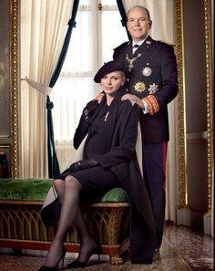 Prince Albert & Princess Charlene of Monaco Nov. 2014