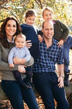 Prince Louis looks all grown up in the photo with siblings, Prince George and Princess Charlotte, as well as his parents Prince William and Kate Middleton