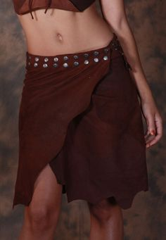 TOLKIEN SKIRT:-Made from the highest quality soft leather. One size fits all , closes with clips. A beautiful piece.