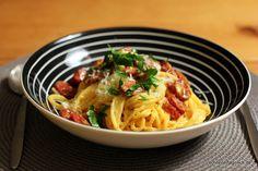 """Spaghetti alla """"Carbonara"""" mit Chorizo"""