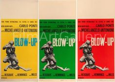Vintage original Blow-Up Italian Yellow Green & Red movie posters | Thousands of extraordinary vintage original film posters. Online and in Los Angeles