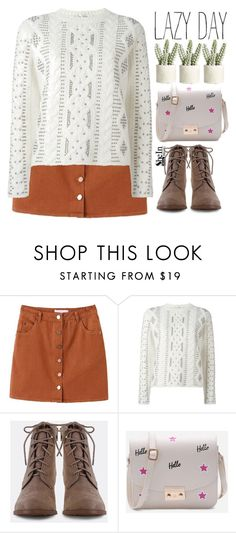 """'Cause today I swear I'm not doing anything!"" by amilla-top ❤ liked on Polyvore featuring WithChic, Valentino and Allstate Floral"