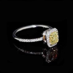 Fancy Yellow Canary Diamond Engagement Ring Mounting by OroSpot, $1,149.00