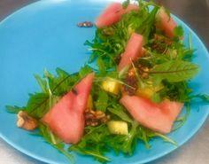 #springsalad #watermelon #rocketleaves #walnuts #salad #spring #apetizer #starter #tawernarybaki