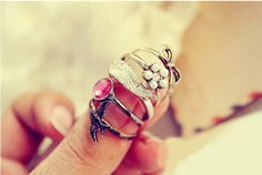 Retro 5 Unique Style Rings (AS THE PICTURE) China Wholesale - Sammydress.com