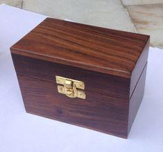 Handcarved Plain Top Rectangular Wood Tool Box #Asian #RoyalKraft