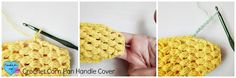 How to use crochet applique as a crochet hook organizer, a corn amigurumi and a pan handle cover.