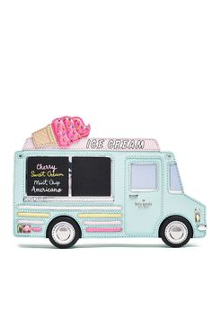 The Daily Bauble: Kate Spade Flavor of the Month Ice Cream Truck Clutch and Wedges Unique Handbags, Unique Purses, Cute Handbags, Kate Spade Handbags, Kate Spade Purse, Purses And Handbags, Novelty Handbags, Novelty Bags, Best Purses