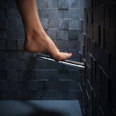 Ideaal steuntje tijdens scheren en scrubben van #Geesa.