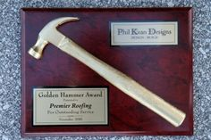Gold Hammer Award by Phil Kean Designs - http://www.premierroofingflorida.com/about-premier-roofing-metal-roofing-in-orlando/