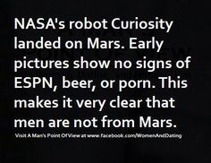 men are not from mars