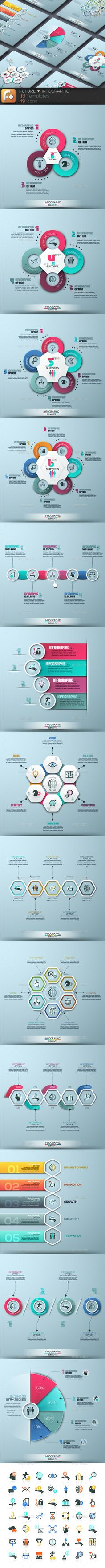 ''Future + '' Infographics. Set 2 - Infographics