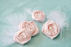 Rosette Hair Clip Tutorial with feather - so easy and they sell like hot cakes!