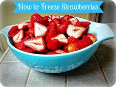 Greneaux Gardens: How to Freeze Fresh Strawberries