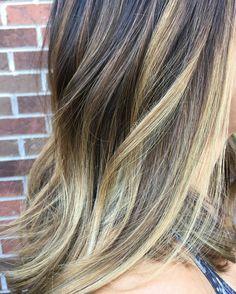 #blondehair#blondehighlights#highlights#balayage#waves#brownhair