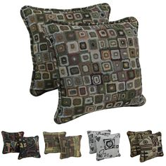 Blazing Needles Corded Contemporary Print Tapestry Pillows and Removable Insert