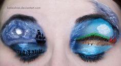 Make-Up Artist Creates Detailed Movie Scenes On Eyelids - DesignTAXI.com