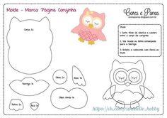 Mother & Daughter Crafts: Page Marker-Misc Templates Felt Owl Pattern, Felt Animal Patterns, Owl Patterns, Applique Patterns, Stuffed Animal Patterns, Felt Owls, Felt Birds, Felt Animals, Owl Templates