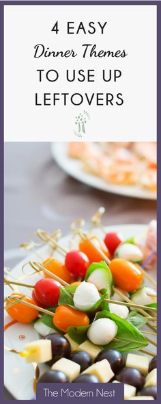 Need ideas to use up food leftovers in the fridge? Check out these 4 dinner ideas to use up leftovers that the whole family will love at www. Dinner Themes, Dinner Ideas, Meal Ideas, Frugal Meals, Easy Meals, Dinner Planner, Good Food, Yummy Food, Different Vegetables