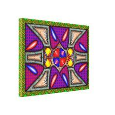 Geometria Equilíbrio - Impressão em Canvas medindo 60 x 45 cm - R$ 351,95
