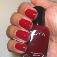 Zoya Sheri On Dark Skin Red Nail Polish