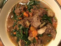 IMG_1507 Beef Bone Broth, Beef Bones, Soups And Stews, Pot Roast, My Recipes, Instant Pot, Spinach, Paleo, Homemade