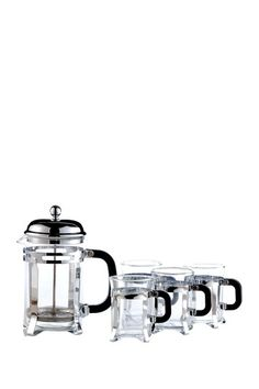 Verona 5-Piece French Press Coffee or Tea Set by Entertaining Essentials on @HauteLook