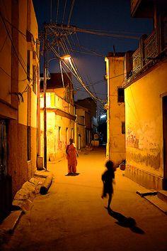 Running shadow - Madurai, India