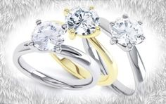 Engagement ring garden. Buy one of these rings at serendipitydiamonds.co.uk #jewellerymonthly